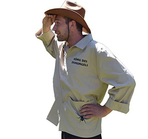 Krause & Sohn Herren Kostüm König des Dschungels Hemd beige Paarkostüm Karneval - Der König Und Ich Kostüm