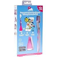 Playbrush Bluetooth Zahnputzaufsatz + Zahnbürste + Micro USB Kabel + Tasche mit Saugnäpfen (Pink)