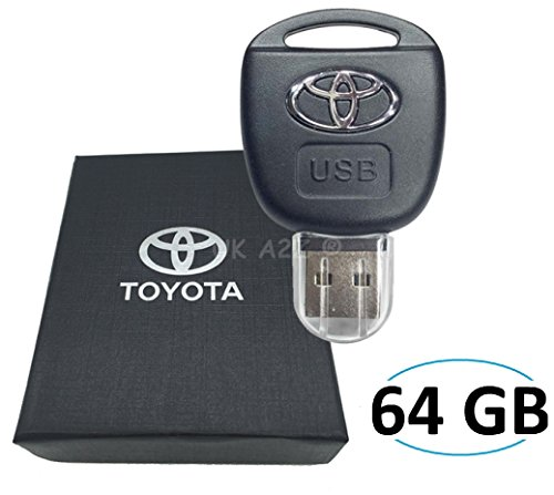 Sport luxury car toyota remote key 64gb usb flash drive. presentato in confezione regalo.