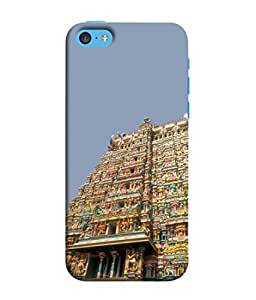 PrintVisa Godess Parwati Temple 3D Hard Polycarbonate Designer Back Case Cover for Apple iPhone 5c