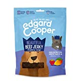 Edgardcooper Grain Free Jerky Strisce di Carne per Cani da150 Gr, Manzo Fragola e Mango