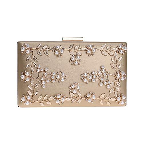 HCFKJ Bag, Frauen Abendtasche Net Diamond Sequins Skewed Bucket Bag Handtasche Chain Bag