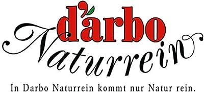 Darbo Holunderblütensirup 0,5l in einer schmalen Glasflasche