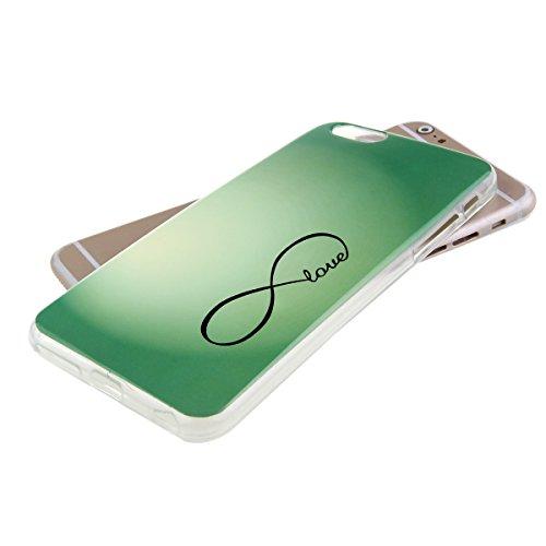 Ekakashop Mode TPU Silicone Souple Cover Case de Protection pour iphone 6 Plus/6s Plus 5.5 Pouces, Jolie Dessin Couleur imprimé Motif de Animale Mignon Chiot [Scratch-Resistant] [Perfect Fit] Crystal  amour vert