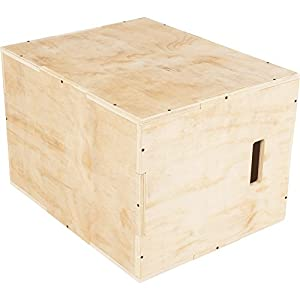 GORILLA SPORTS® Jump-Box Holz für plyometrisches Cross-Training 60 x 50,5 x 75,5 cm