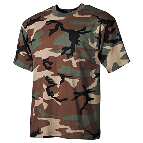 MFH US Army Herren Tarn T-Shirt (Woodland/XL) -