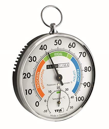 TFA 45.2027 - Termohigrómetro metálico de Cabello sintético