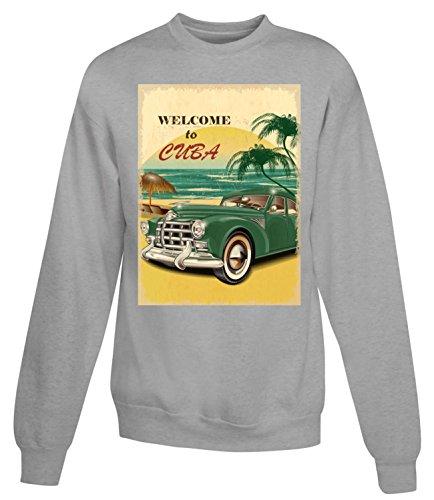 Billion Group | Welcome To Exotic Cuba | Women's Unisex Sweatshirt Gris