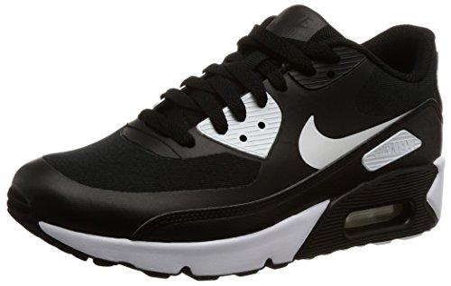 Nike Herren Air Max 90 Ultra 2.0 Essential Sneaker, Schwarz (Black/Black White), 45 EU (Nike Air Max Für Männer)
