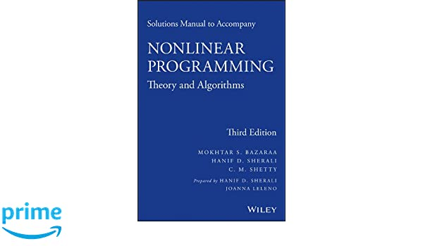 solutions manual to accompany nonlinear programming theory and rh amazon de Multiplication Algorithm Algorithm Psychology