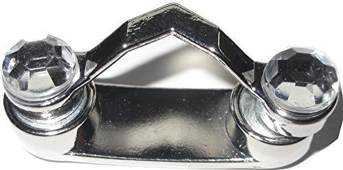 Magnetischer Brillenhalter mit Strass-Steinen