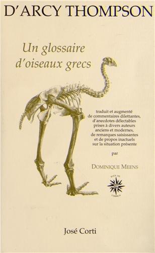 Un glossaire d'oiseaux grecs par D'Arcy Wentworth Thompson