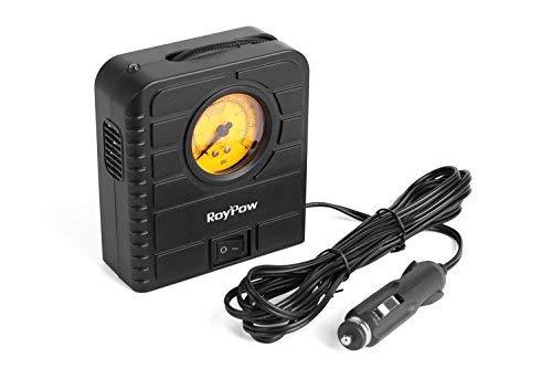Roypow I80 12V Compresor eléctrico para coche & Inflador de ruedas & Inflador para motocicletas, bicicletas, balones y todo tipo de objetos hinchables