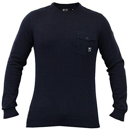 Hommes Tricot Coton Pull By Dissident Marine - 1A7775