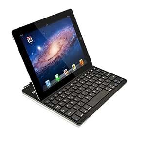 Sharon Apple iPad 4 Ultrathin Keyboard Cover Case mit Tastatur | Aluminium | Keyboard (Deutsch, QWERTZ) | Smart Cover Funktion | iPad3 Cover iPad 2 Tastatur iPad 4 Tasche iPad 4 Hülle