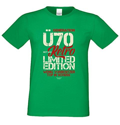 Herren-Geburtstag-Sprüche-Motiv-Fun-T-Shirt Original seit 70 Jahren Geschenk zum 70. Geburtstag oder Weihnachts-Geschenk auch Übergrößen 3XL 4XL 5XL in vielen Farben grün-16