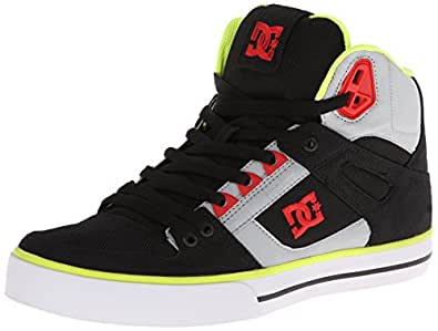 DC Shoes Spartan High Wc M Shoe Krv, Chaussures de skateboard homme - Multicolore (Blk/Tr Red/Vapo), 41 EU