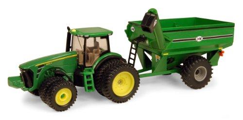 ERTL John Deere 8320r Traktor mit J & M Getreide Warenkorb, Maßstab 1: 64 (Tractor Deere 1 John 64)