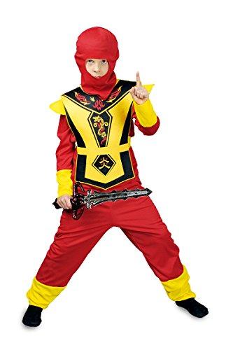 Kostüm Dragon Krieger Ninja - K31250492-116-128 Kinder Junge Mädchen Ninja Kostüm Kim Gr.116-128