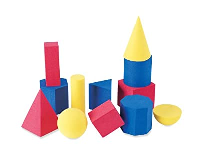 Learning Resources Soft Foam Geometric Shapes (Set of 12) by Learning Resources (UK Direct Account)