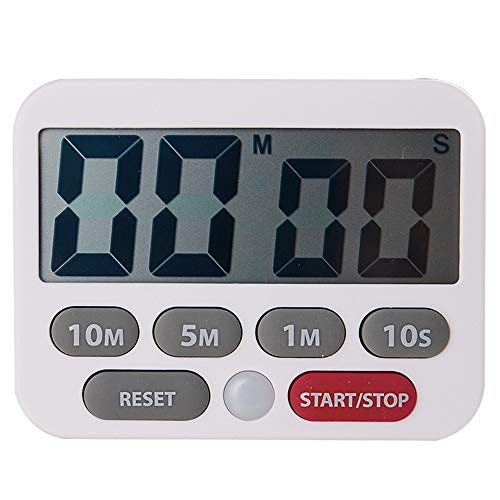 FANZHOU Magnetischer digitaler Küchentimer Kochtimer mit großem LCD-Display Digitaler Küchentimer Lauter Alarm Ring Countdown-Timer Erinnert die Schüler