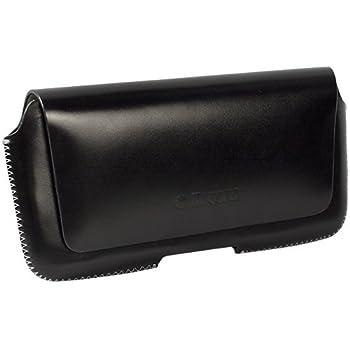 Krusell - Hector 95559 - Etui en cuir Passant ceinture avec rabat  magnétique Taille 4 XL, 145 x 75 x 8 mm Noir 8a0a62099e6