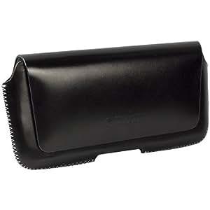 Krusell - Hector 95559 - Etui en cuir Passant ceinture avec rabat magnétique Taille 4 XL, 145 x 75 x 8 mm Noir