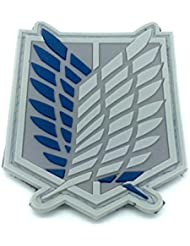 Shingeki No Kyojin Attack Titan Recon Corps Cosplay Airsoft PVC Patch