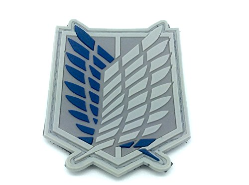 Shingeki No Kyojin Attack Titan Recon Corps Cosplay Airsoft Velcro PVC Patch