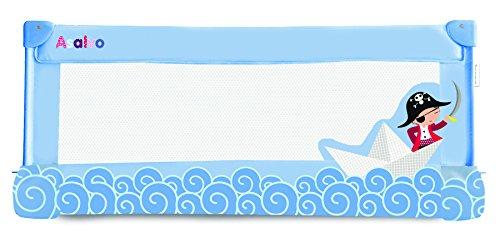 Asalvo 12685 - Barrera de cama, 30 cm, diseño barquito de papel, color azul