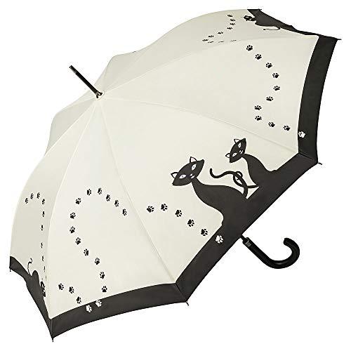 VON LILIENFELD Paraguas Automática Mujer Motivo Gatos Negros
