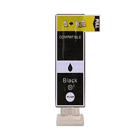 1 Druckerpatrone kompatibel zu PGI-525BK Text Schwarz für Canon Pixma IP4850 IP4950 IX6550 MG5150 MG5250 MG5300 MG5350 MG6150 MG6250 MG8150 MG8250 MX715 MX885
