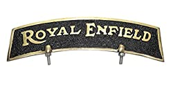 RR's Brass Front Fender Plate Royal Enfield-Golden & Black- For Royal Enfield Bikes