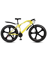 WN-PZF Bicicleta de montaña de 26 Pulgadas, Bicicleta de montaña para Deportes al Aire Libre para Estudiantes Adultos,Frenos de Disco Delanteros y Traseros+neumáticos ensanchados