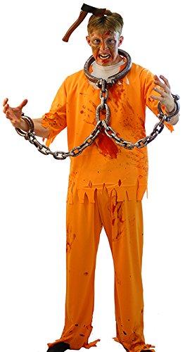 Halloween Costumes Scary Men.Halloween Creepy Scary Convict Zombie Orange Prisoner Men S Fancy