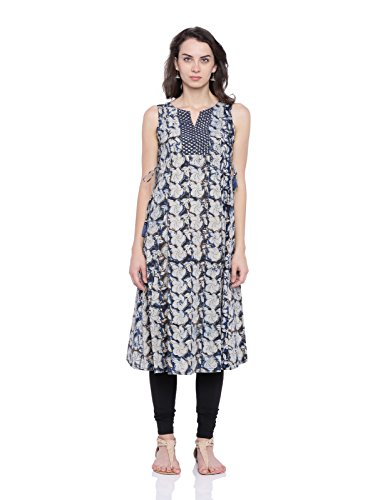 Fabindia Women's Cotton Handblock Long Kurta