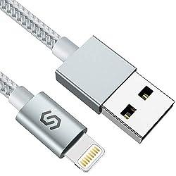 Syncwire iPhone Ladekabel Lightning Kabel - 1M [Apple MFi Zertifiziert] Super Schutz Schnell Apple USB Datenkabel für iPhone 11 Pro Max XS Max XR X 8 7 6s 6 Plus SE 5s 5c 5 iPad - Starkes Nylon