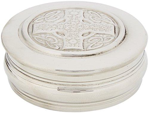 Edwin Flasque & Co Boîte à Bijoux Design Croix Celtique en étain, 50 mm,