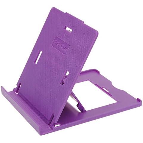 Plástico del sostenedor del soporte plegable ajustable para Tablet Purple.