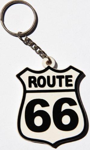 Route 66 Chopper Biker Schlüsselanhänger Key Ring Kautschuk Gummi auch als Anhänger für Tasche