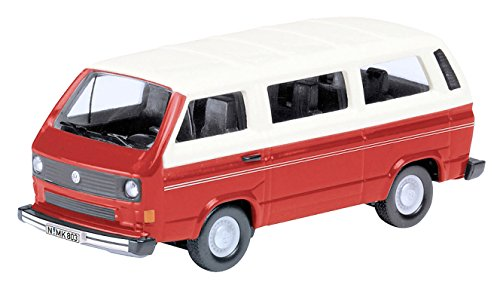 Schuco VW T3 Metal vehículo de juguete - vehículos de juguete (Metal, Rojo, Color blanco, 14 año(s), Niño, 1:87)