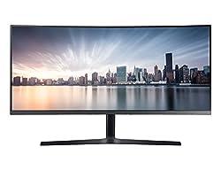 Samsung LC34H890WJUXEN UWQHD 34-Inch Curved Monitor - Dark Silver