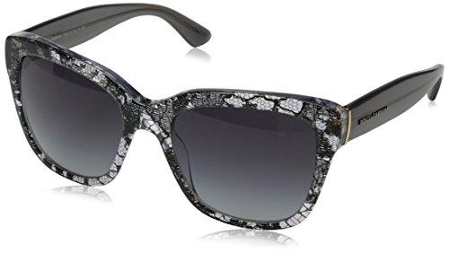 Dolce & Gabbana Damen 0Dg4226 28548G 56 Sonnenbrille, Schwarz (Black/Grey Gradient),