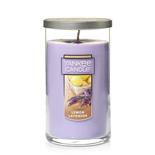 YANKEE CANDLE Perfect Stumpenkerze, mittelgroß, Lemon Lavendel