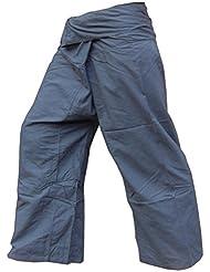 Panasiam, pantalon Thai (Fisherman), coloris cyan foncé, S-L