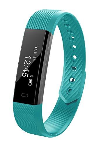 Fitness Armband-uhr Bluetooth Smartwatch , Sport Anti-Schweiß Tracker Schrittzähler Herzfrequenzmesser Schlaftracker für iPhone X,iPhone 7/7 Plus/8/8 Plus, Samsung S8/S8 Plus/S9/S9 Plus, Huawei P9, Xiaomi Andere Smartphone (Grün)