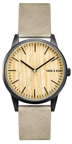 TAKE A SHOT | schwarze Uhr | Tom | mit Zifferblatt aus Ahornholz