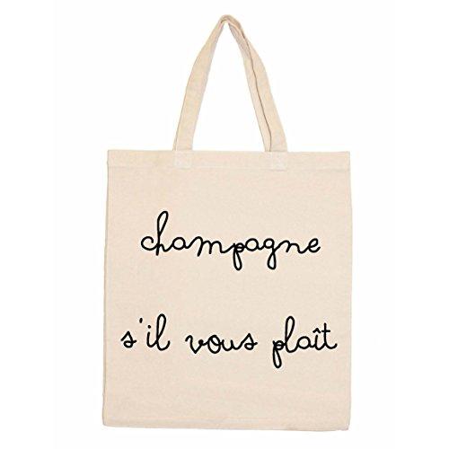 Unbekannt Nouvelles Images Champagner S \'il Vois Plait Rückblick Tasche