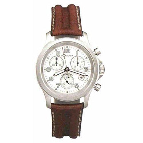 Hamilton Unisex 383223Quartz Watch (Rechargeable) quandrante Steel White Leather Strap