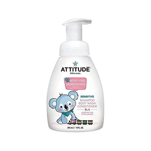 Haltung Kleinen 3 In 1 Shampoo Dusche Anlage Pumpe Ohne Duft 295Ml - Packung mit 6